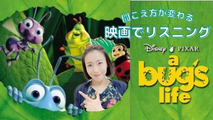 この英語聞き取れるかな?映画で英語リスニング【バグズライフ a bugs life】発音&フレーズ&リスニング強化