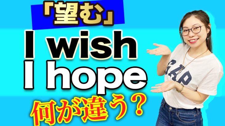 """【感動】ネイティブに""""Wish""""と""""Hope""""の違いを聞くと超スッキリしました 〔#224〕"""